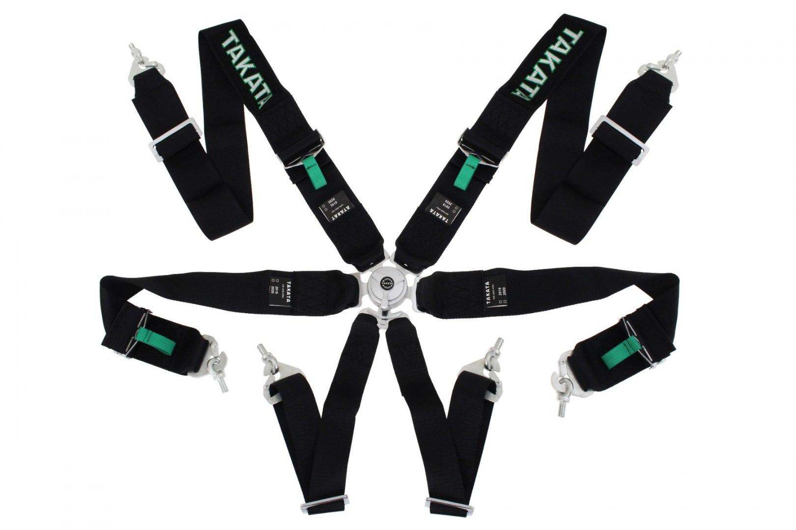 "Pasy sportowe 6p 3"" Black - Takata Replica harness - GRUBYGARAGE - Sklep Tuningowy"